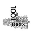 the organized tool box text background word cloud vector image vector image