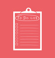 to do list icon with hand drawn text checklist vector image vector image