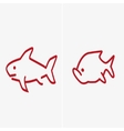two fishes set vector image vector image