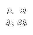 user profile group set icon symbol vector image