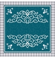 Vintage card with a pattern vector image