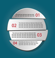 Design clean number banners vector image