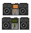 Dj Sound Mixer Set Flat Design Style vector image