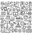 Web thin line icons set vector image