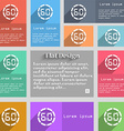 60 second stopwatch icon sign Set of multicolored vector image vector image