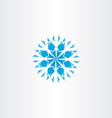 abstract blue snowflake icon symbol element vector image vector image