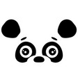 abstract face of cute panda design template vector image