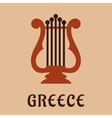 Ancient greek lyre culture symbol