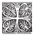 anthemion is a byzantine cross vintage engraving vector image vector image