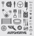 Automotive Parts and Icons vector image vector image