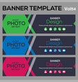 bannertemplate for business webdesign vector image vector image
