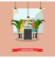 Beauty salon concept banners Women in vector image vector image