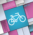 bike icon sign Modern flat style for your design vector image