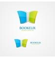 Book design logo vector image vector image
