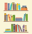 Bookshelf Graphic vector image vector image