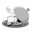 bread in tray menu icon vector image vector image