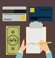 Buying products vector image