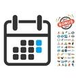 Calendar Weekend Icon With 2017 Year Bonus vector image vector image