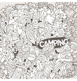 Cartoon hand-drawn doodles camp vector image
