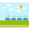 cartoon train vector image vector image