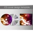cd cover presentation design template vector image vector image