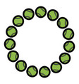 circle with tennis balls sport image vector image vector image
