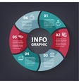colorful loop infographic Template for vector image vector image