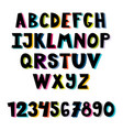 colorful set hand drawn font school english vector image