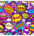 Comic speech bubbles seamless pattern