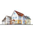Cottages country houses vector image vector image
