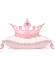 Crown on the pillow vector | Price: 1 Credit (USD $1)