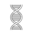 Dna line icon vector image