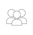 dotted shape teamwork people pictogram to social vector image