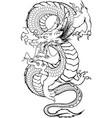 Dragon Japanese 1 vector image vector image