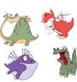 Dragons set Cartoon vector image vector image