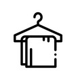 dress things on hanger thin line sign icon vector image vector image