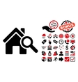 Explore House Flat Icon with Bonus vector image vector image