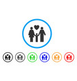family love rounded icon vector image vector image