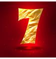 figure 7 made golden crumpled foil vector image vector image