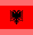 flag albania isolate banner print vector image vector image