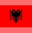 flag albania isolate banner print vector image vector image