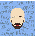 funny laughing guy vector image vector image