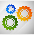 gears cogwheels icon graphics for maintenance vector image vector image