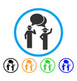 gentlemen chat rounded icon vector image vector image