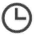 halftone dot clock icon vector image vector image