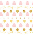 holiday background seamless happy birthday pattern vector image vector image