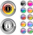 Information multicolor round button vector | Price: 1 Credit (USD $1)