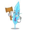 judge feather mascot cartoon style vector image