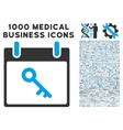 Key Calendar Day Icon With 1000 Medical Business vector image vector image
