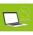 Laptop template vector image vector image